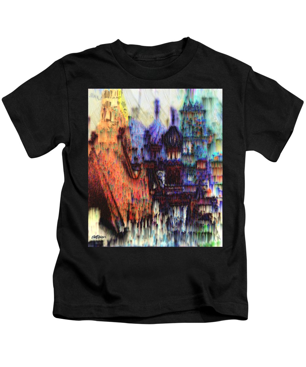 Fog Kids T-Shirt featuring the digital art Moscow In The Rain by Seth Weaver