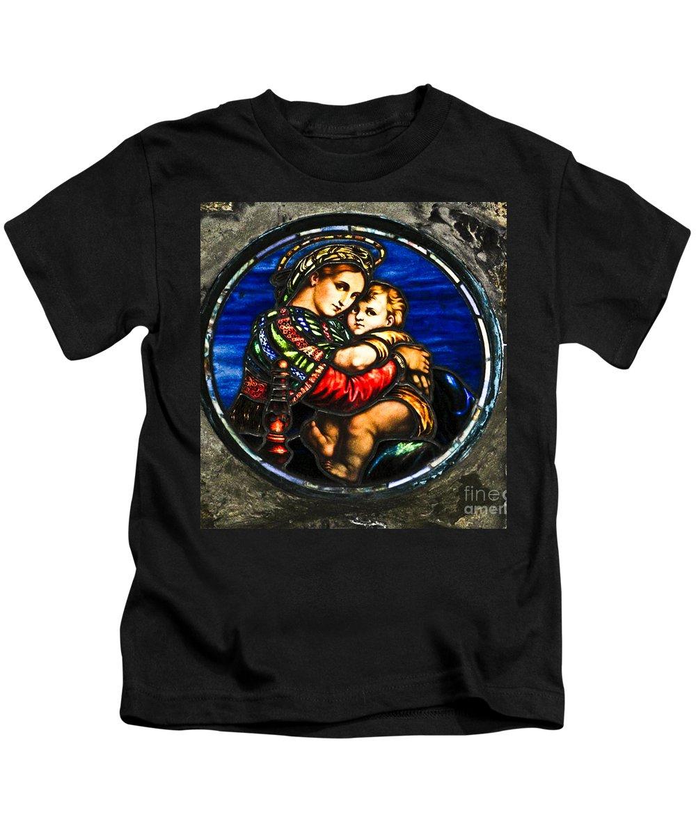 God Kids T-Shirt featuring the photograph In God We Trust Wall Art Print by Carol F Austin