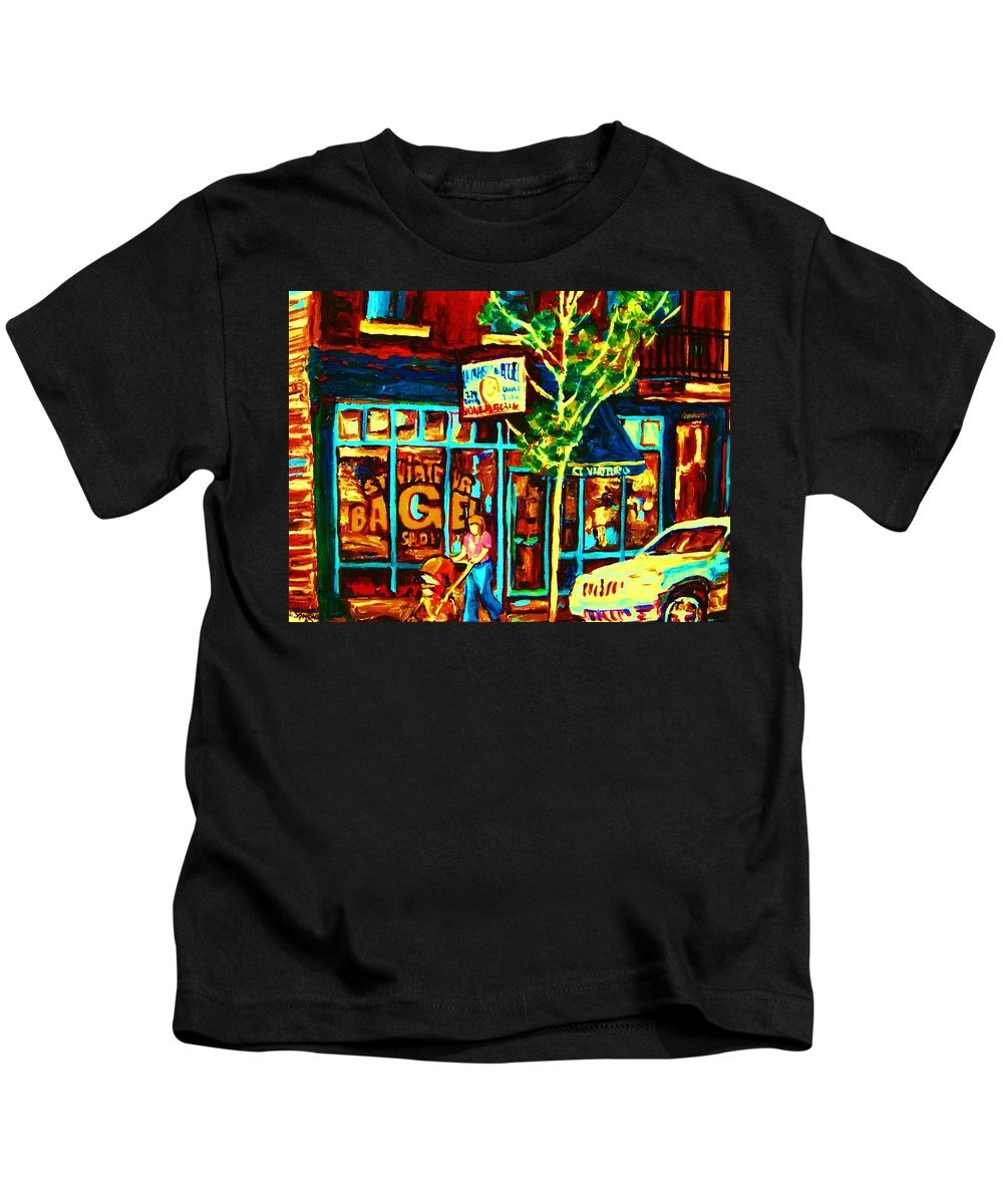 St Kids T-Shirt featuring the painting Mother And Child by Carole Spandau