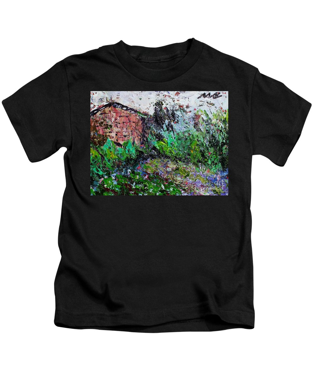 Garden Paintings Kids T-Shirt featuring the painting Mother by Seon-Jeong Kim