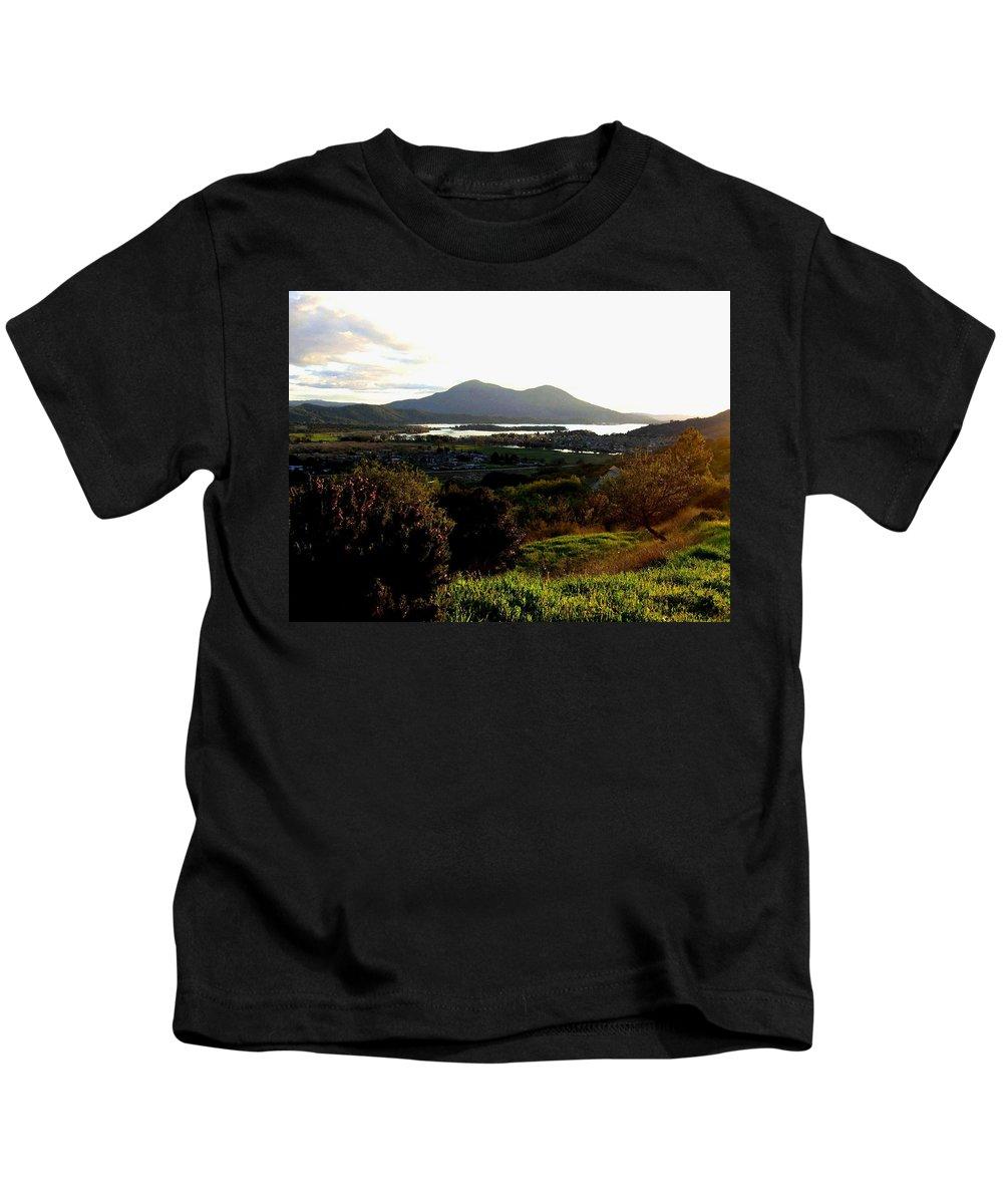 Mount Konocti Kids T-Shirt featuring the photograph Mount Konocti by Will Borden