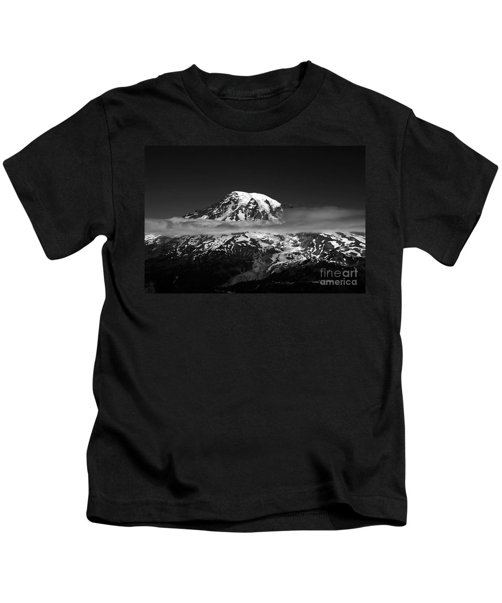 Mount Rainier Kids T-Shirt featuring the photograph Mount Rainier by David Lee Thompson