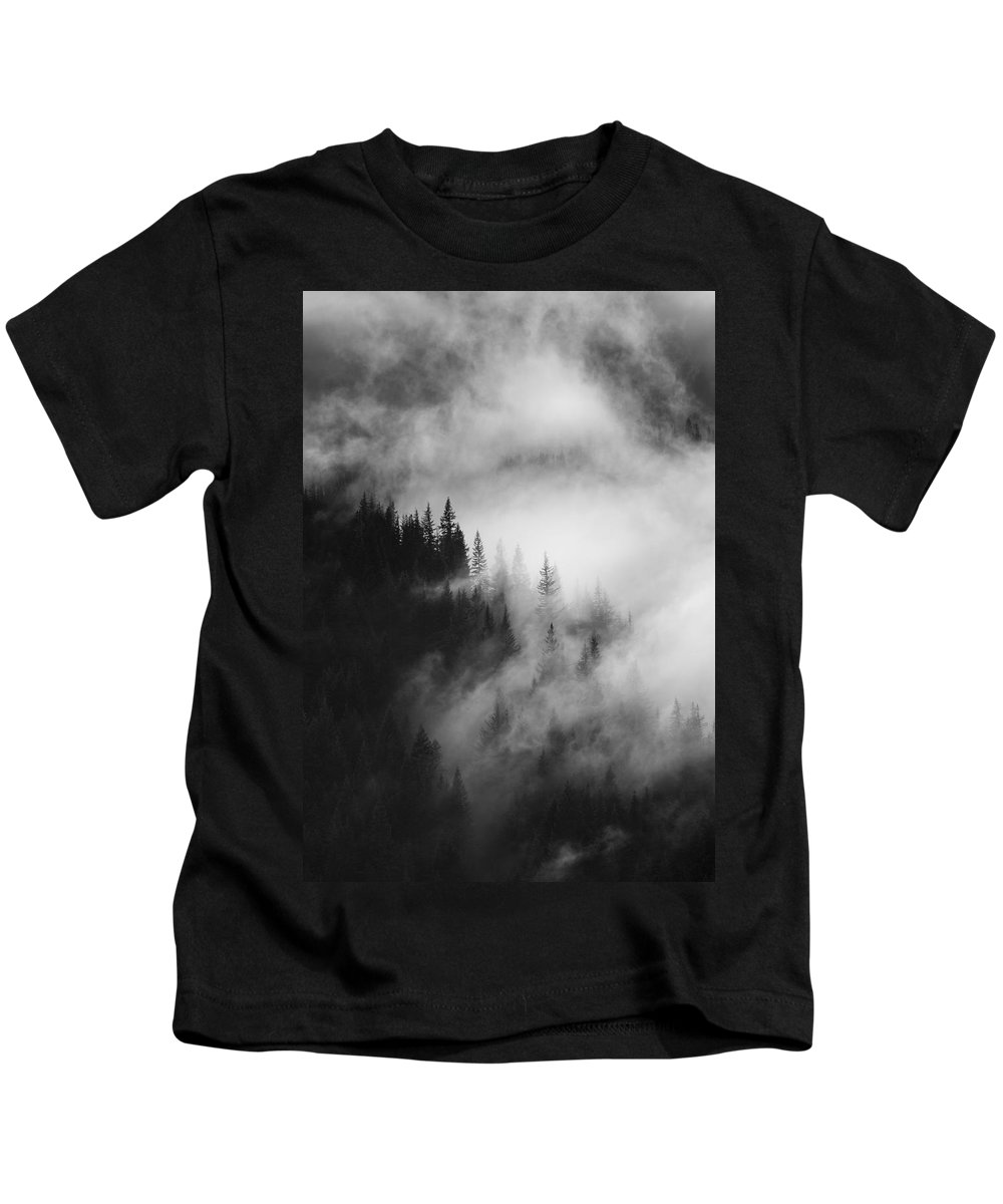Forest Kids T-Shirt featuring the photograph Mountain Whispers by Mike Dawson