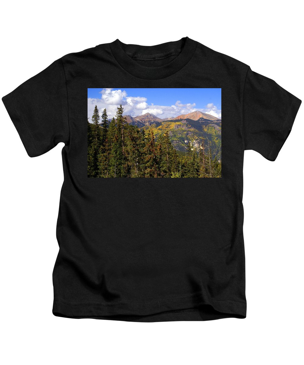 Colorado Kids T-Shirt featuring the photograph Mountains Aglow by Marty Koch