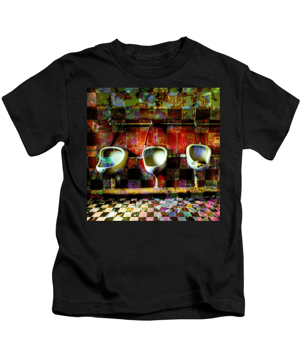 Marcel Duchamp Kids T-Shirt featuring the digital art Move Over Marcel by Barbara Berney