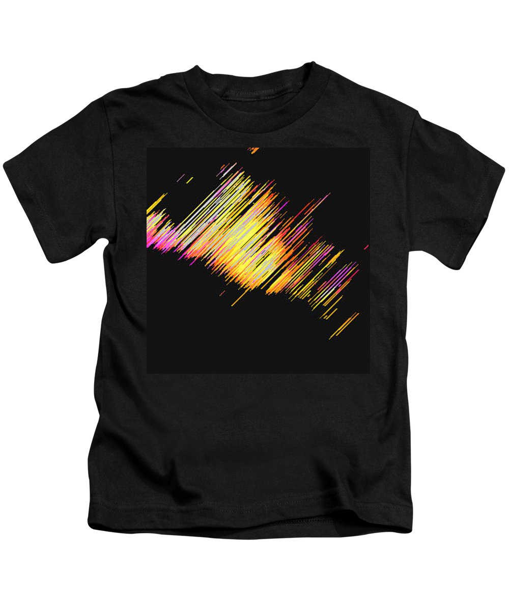 Moveonart! Digital Gallery Kids T-Shirt featuring the digital art Moveonart Dream Light At Night by Jacob Kanduch