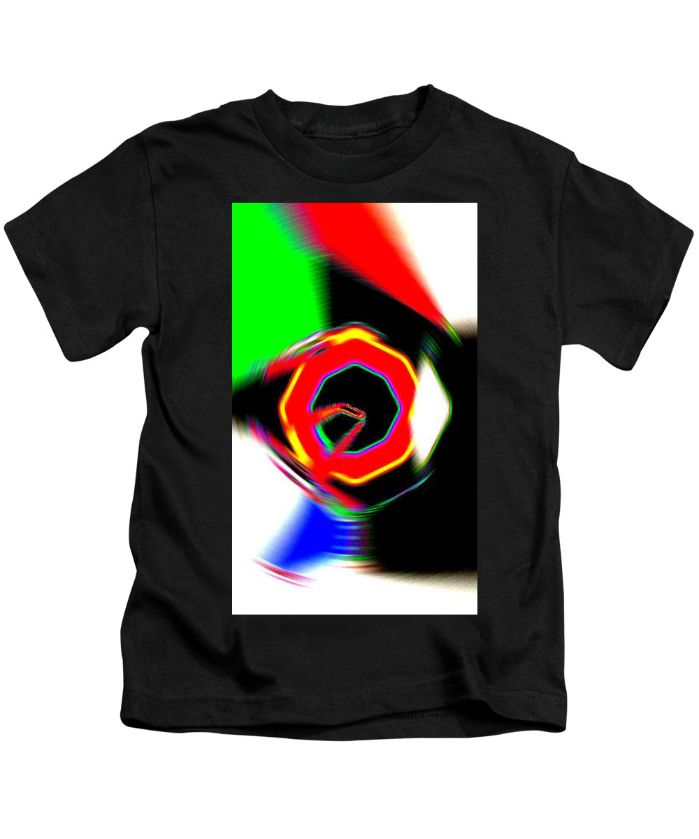 Moveonart! Digital Gallery Kids T-Shirt featuring the digital art Moveonart Getting In Touch by Jacob Kanduch