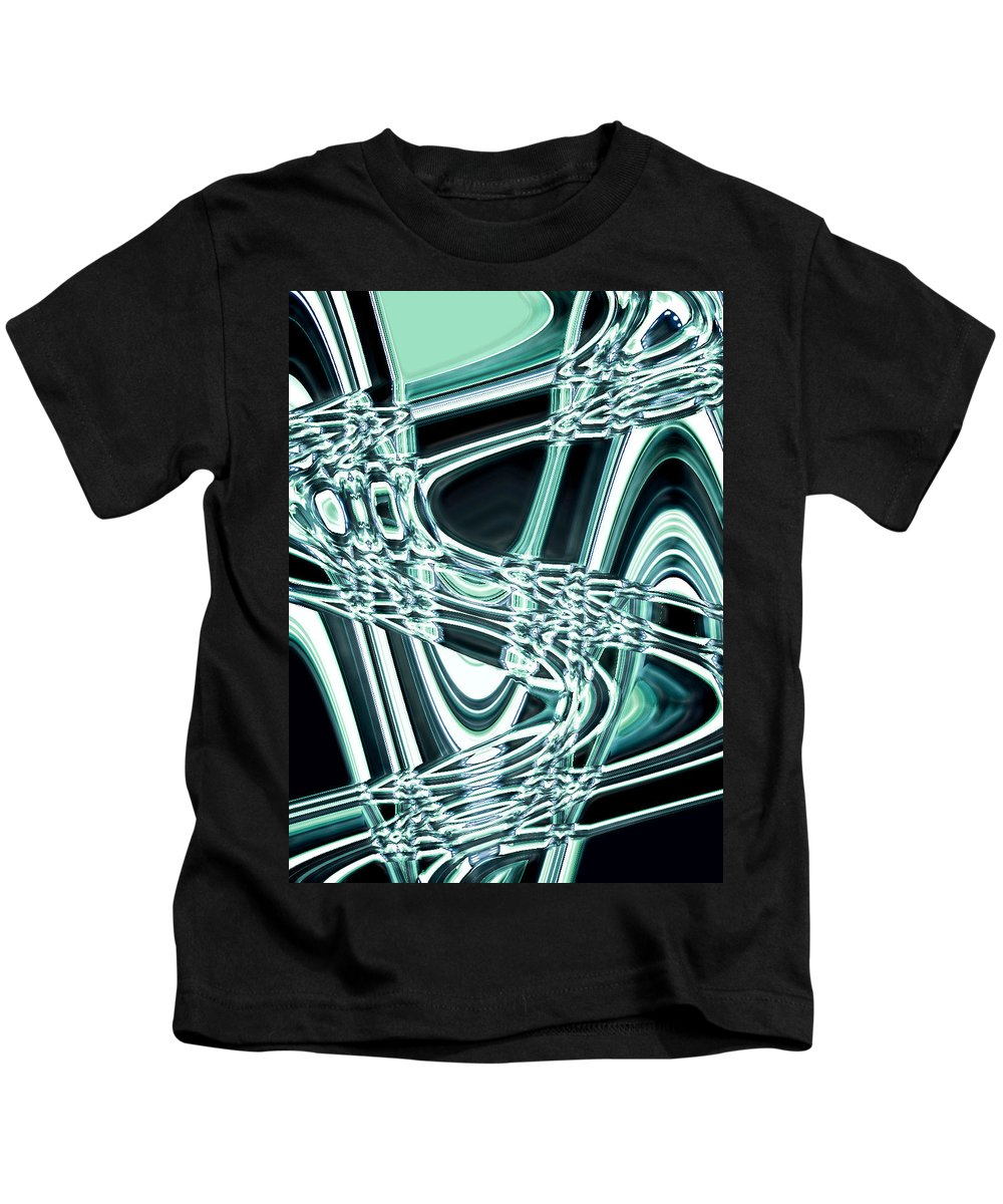 Moveonart! Digital Gallery Kids T-Shirt featuring the digital art Moveonart Intentionally Abstract Movement by Jacob Kanduch