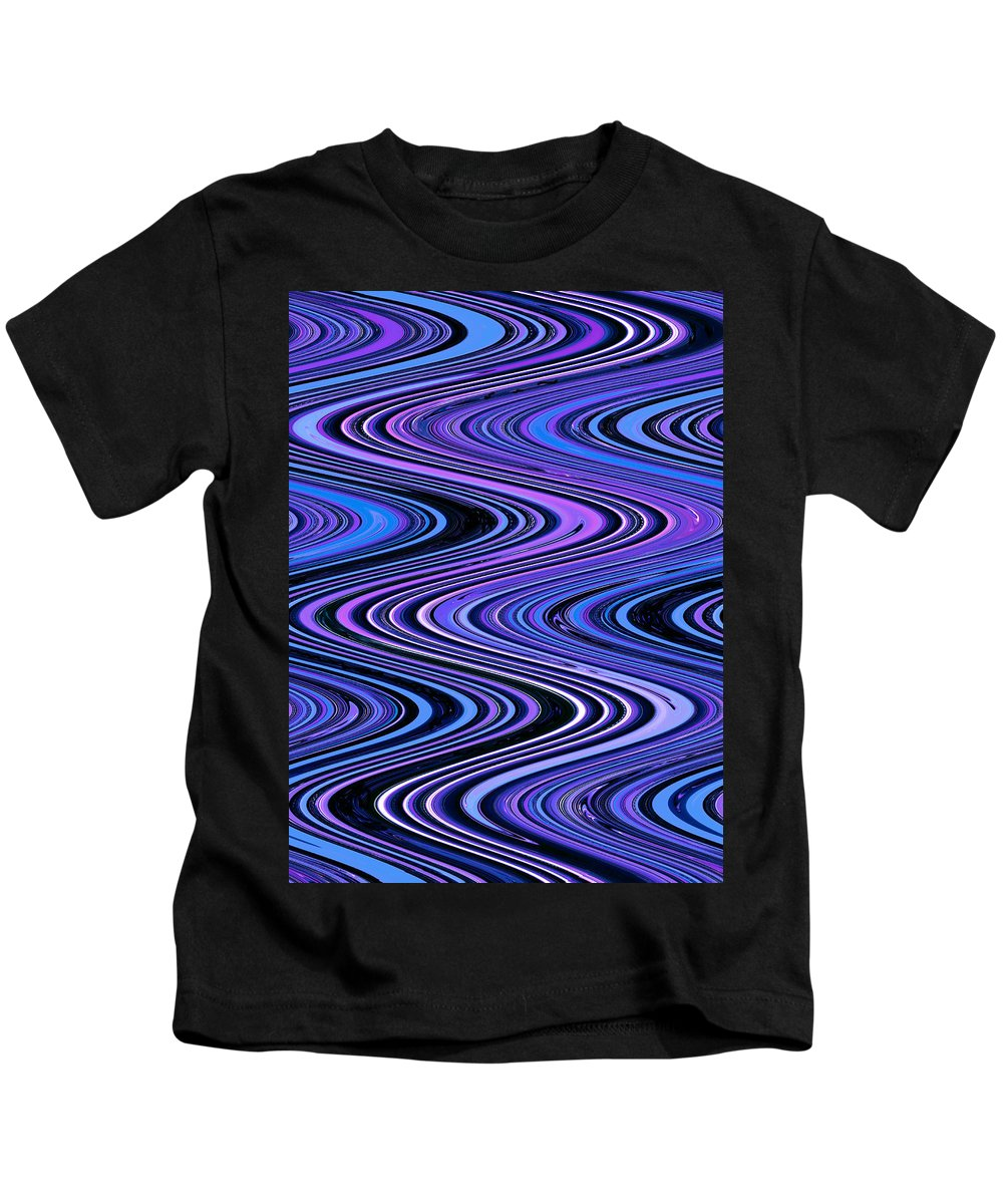 Moveonart! Digital Gallery Kids T-Shirt featuring the digital art Moveonart Waves In Peaceful Movement by Jacob Kanduch