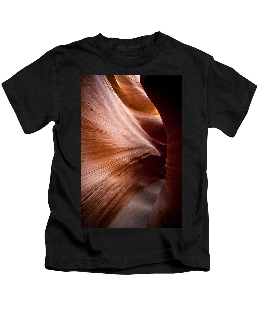 Slot Canyon Kids T-Shirt featuring the photograph Moving Canyon by Scott Sawyer