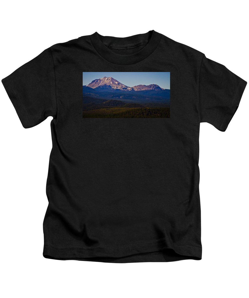 Mt Lassen Kids T-Shirt featuring the photograph Mt Lassen And Chaos Crags by Albert Seger
