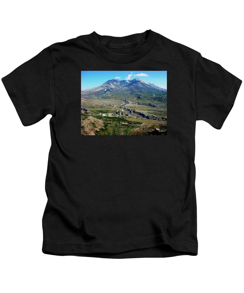 Landscape Kids T-Shirt featuring the photograph Mt. St. Helens 2005 by Val Conrad