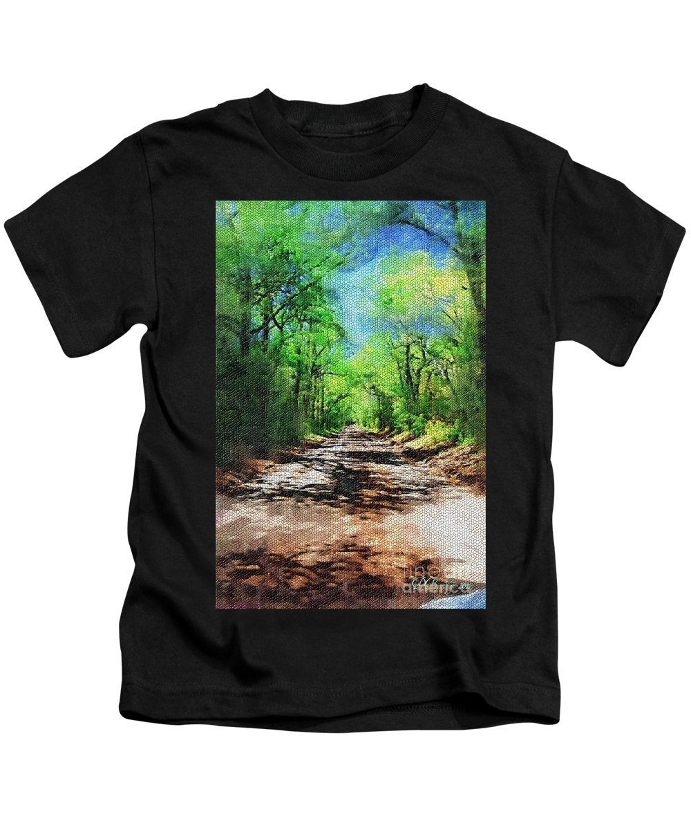 Muddy Road Kids T-Shirt featuring the photograph Muddy Road Mosaic by Donna Bentley