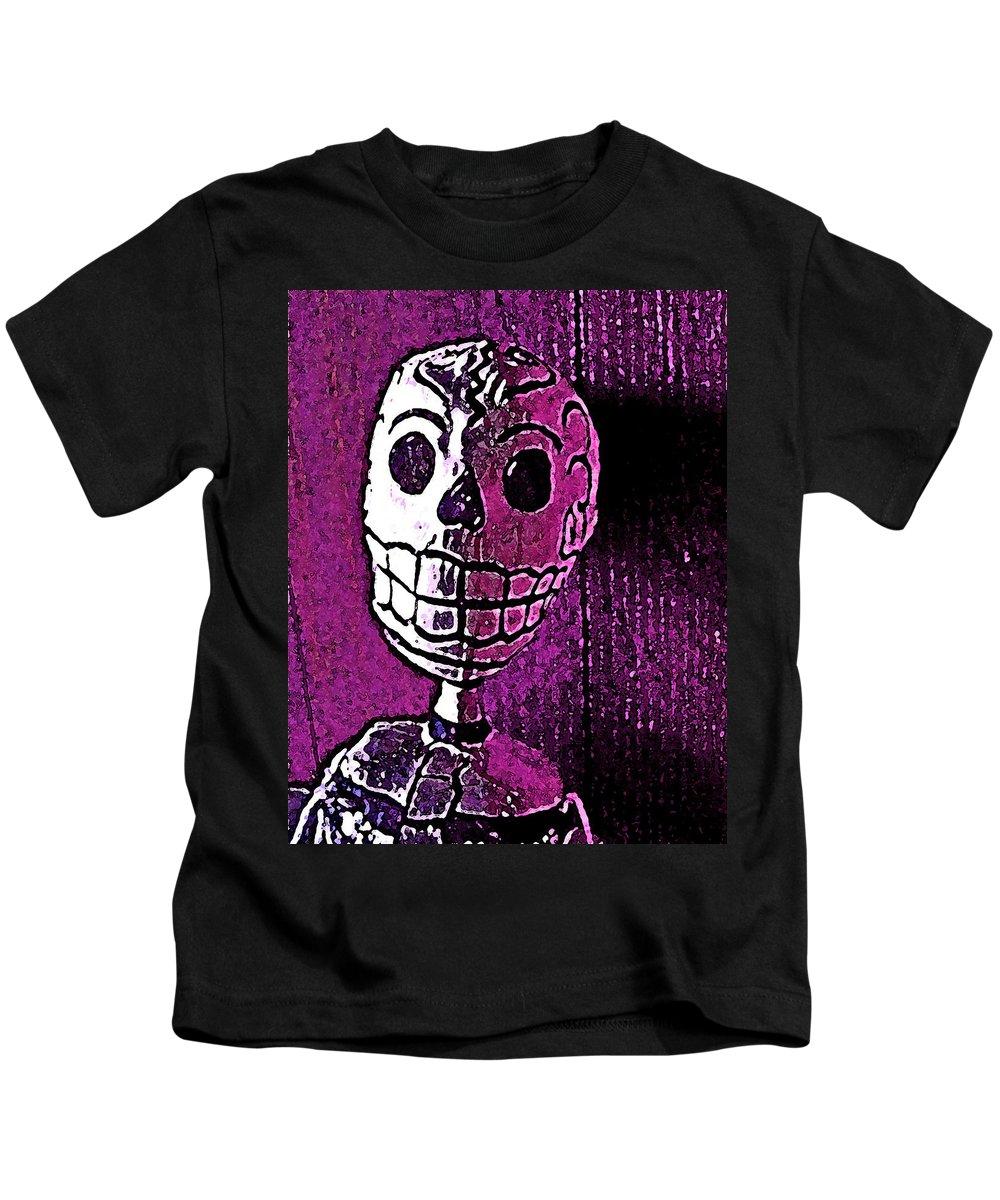 Skull Kids T-Shirt featuring the photograph Muertos 3 by Pamela Cooper