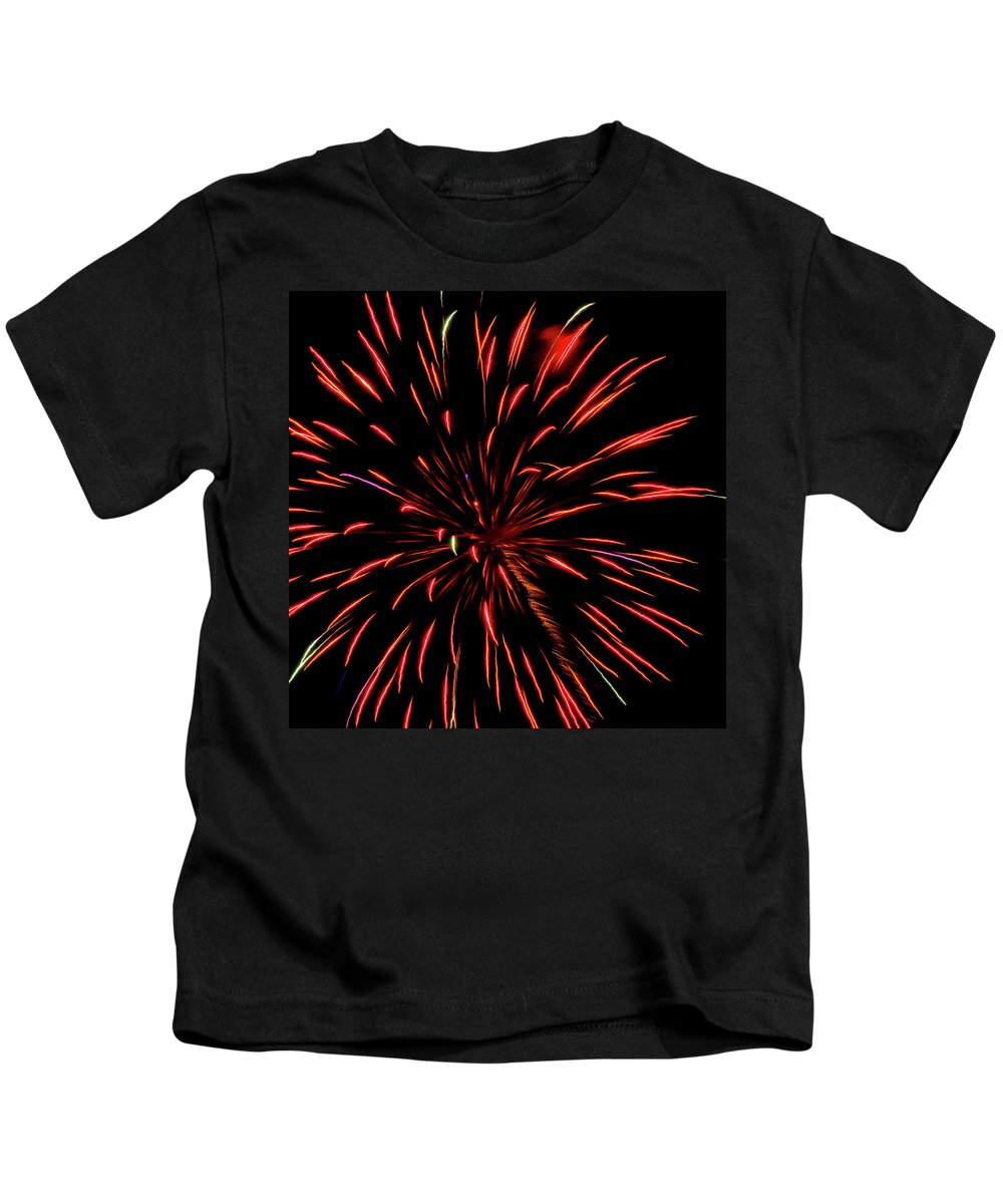 Multicolored Fireworks 2 Kids T-Shirt featuring the photograph Multicolored Fireworks 2 by Cynthia Woods