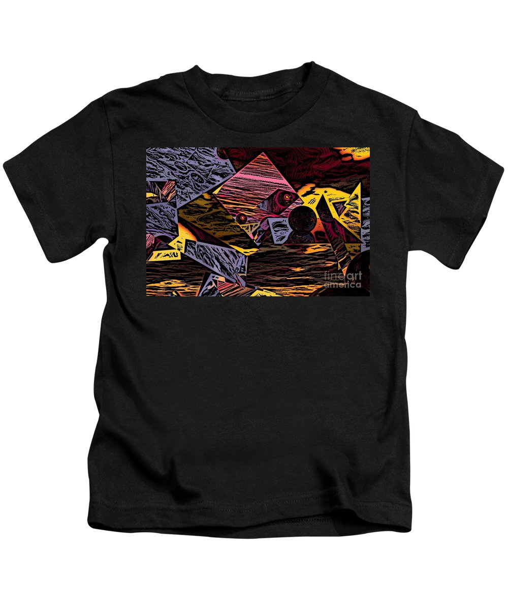 Kids T-Shirt featuring the digital art Multiverse II by David Lane