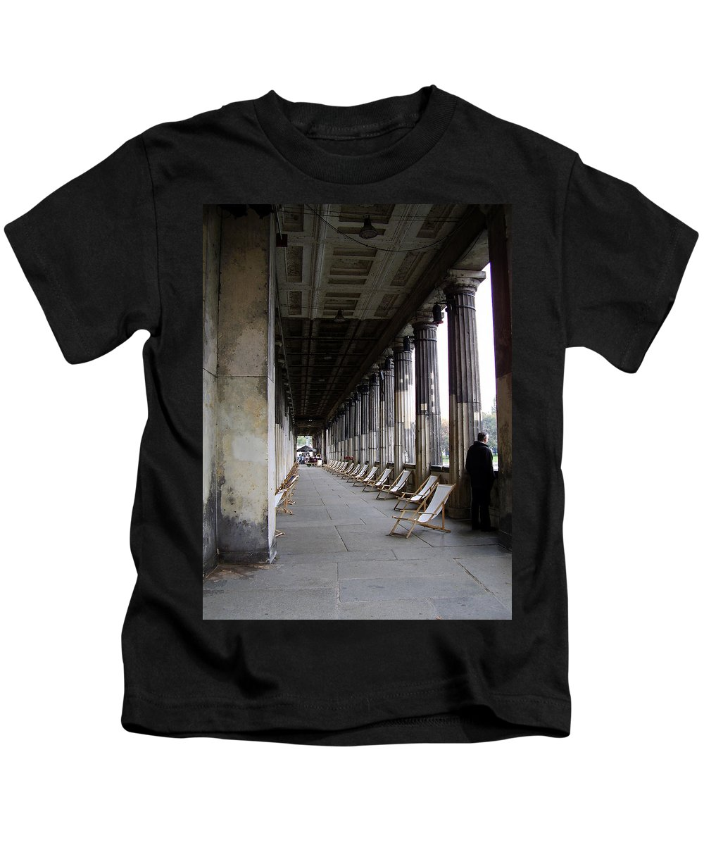 Museumsinsel Kids T-Shirt featuring the photograph Museumsinsel by Flavia Westerwelle