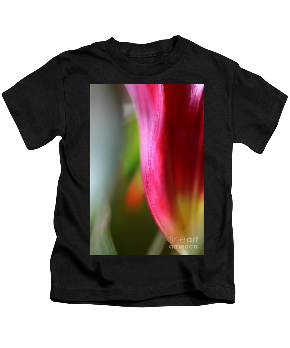 Tulip Kids T-Shirt featuring the photograph My cup overflows by Amanda Barcon