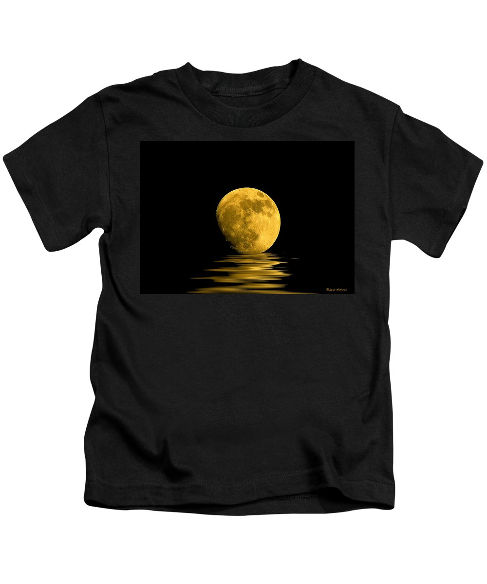 Moon Kids T-Shirt featuring the photograph My Harvest Moon by Lynn Andrews