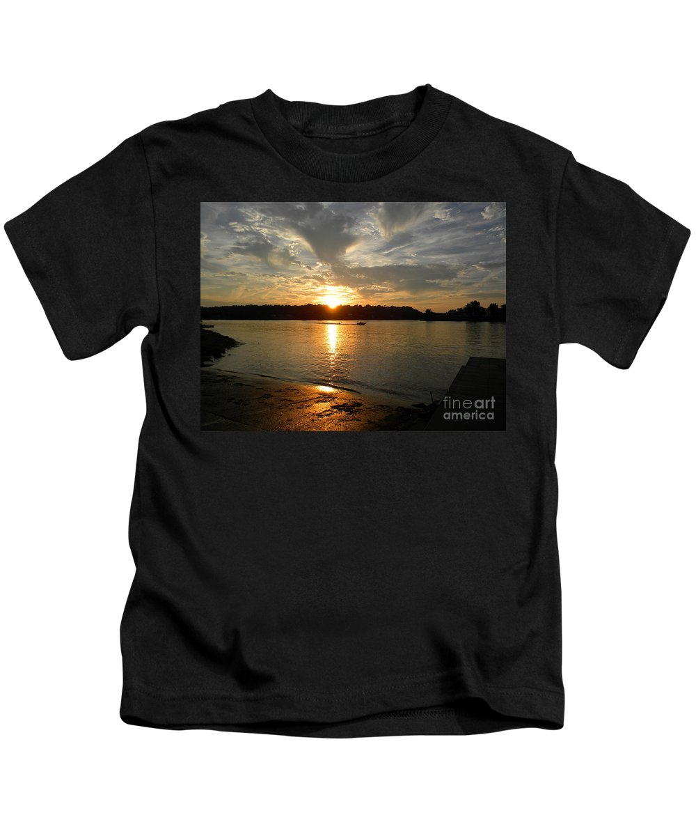 Williamstown Kids T-Shirt featuring the photograph My Hometown Williamstown West Virginia by Matthew Seufer
