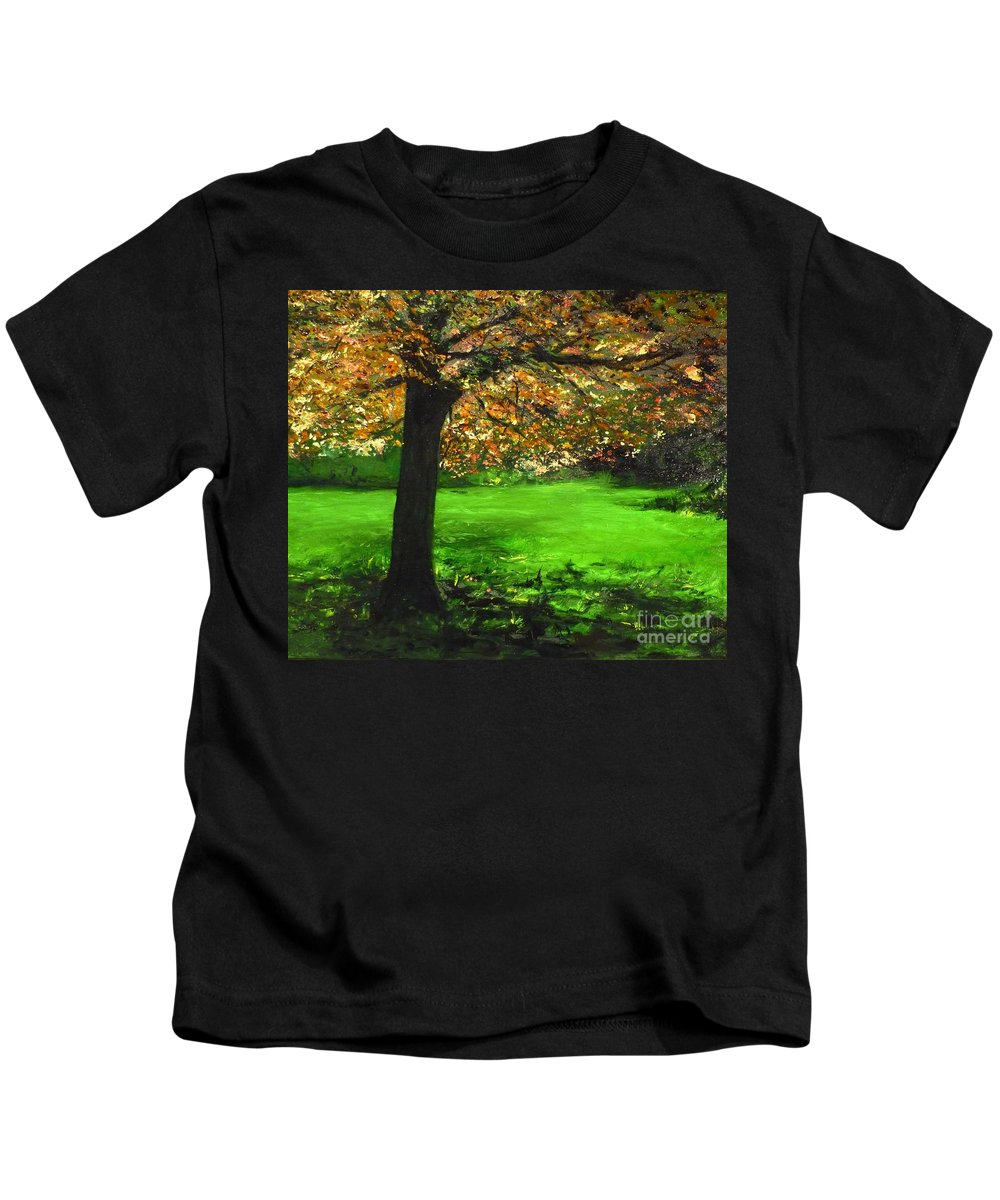 Spiritualism Kids T-Shirt featuring the painting My Love Of Trees I by Lizzy Forrester
