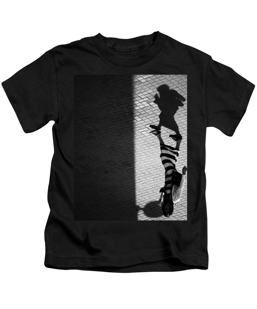 Shadows Kids T-Shirt featuring the photograph My Personalities by The Artist Project