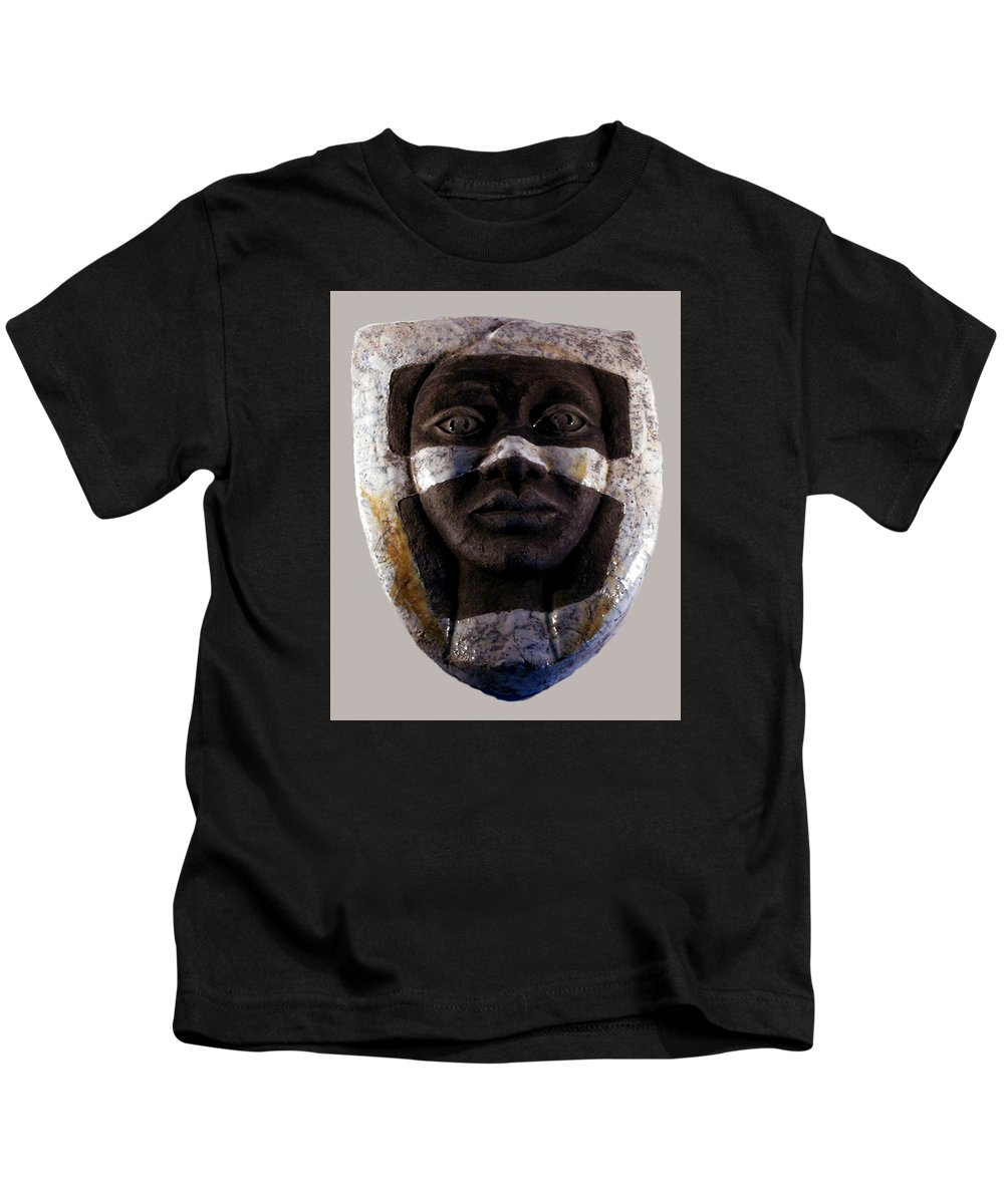 Ceramic Kids T-Shirt featuring the relief My Veils I by Madalena Lobao-Tello