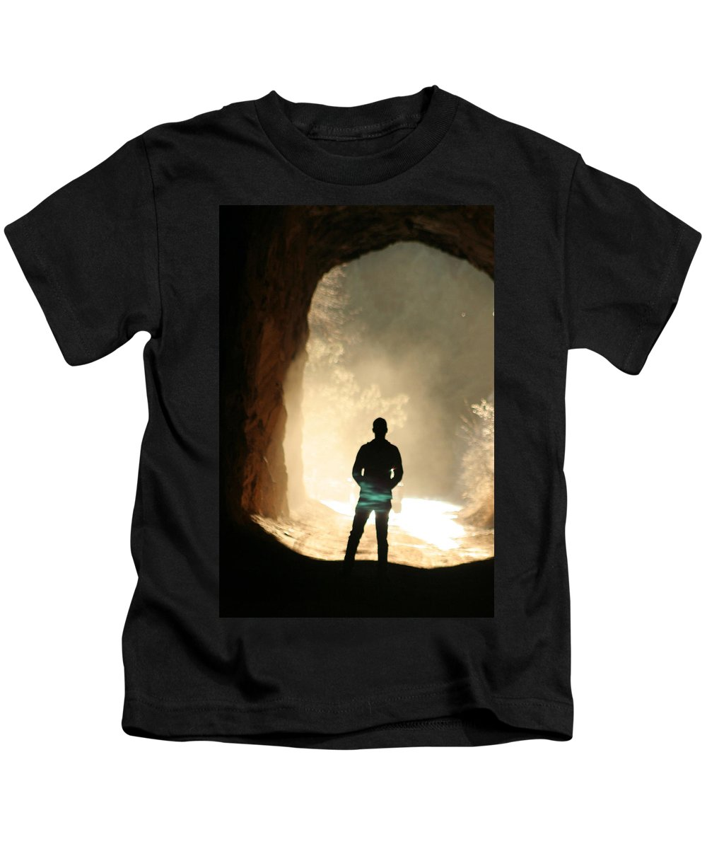 Mystery Kids T-Shirt featuring the photograph Mystery by Ric Bascobert