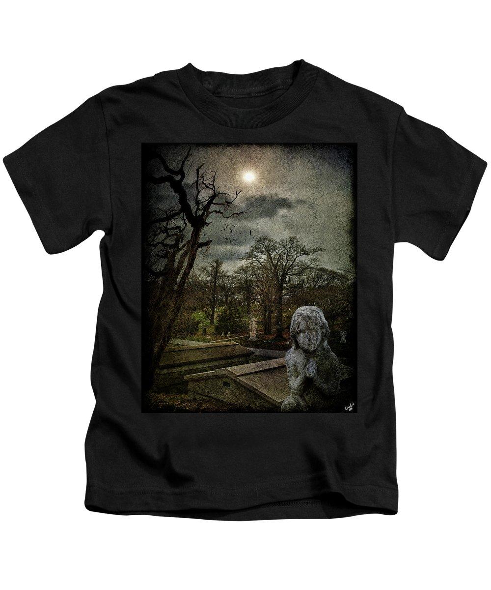 Necropolis Kids T-Shirt featuring the photograph N E C R O P O L I S by Chris Lord