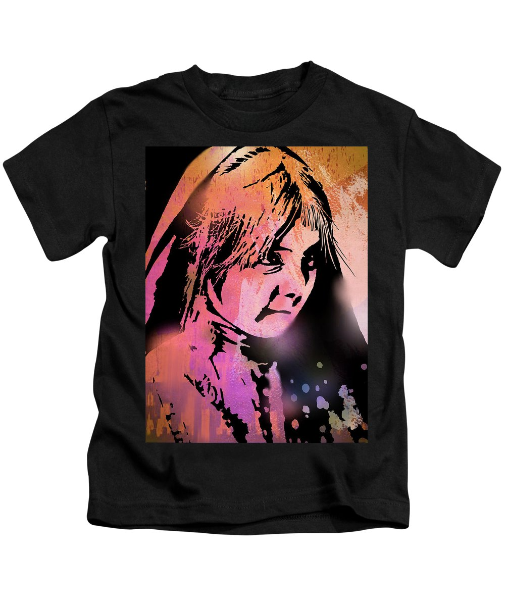 Native Americans Kids T-Shirt featuring the painting Nambe Girl by Paul Sachtleben