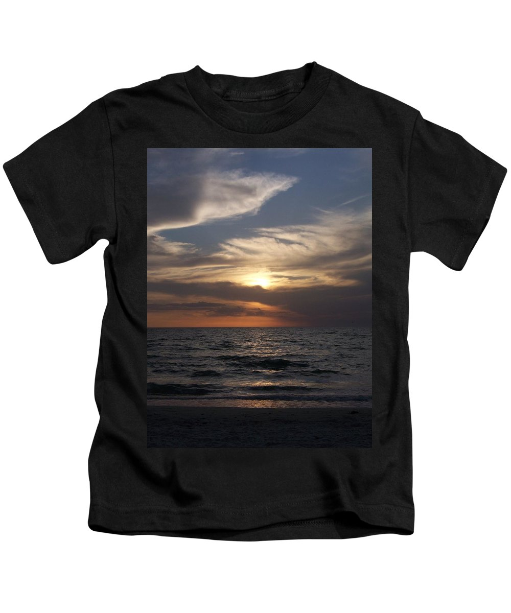 Naples Kids T-Shirt featuring the photograph Naples Sunset 0043 by Laurie Paci