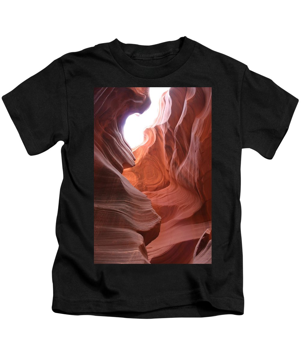 Red Canyon Kids T-Shirt featuring the photograph Narrow Canyon Xvii by Christiane Schulze Art And Photography