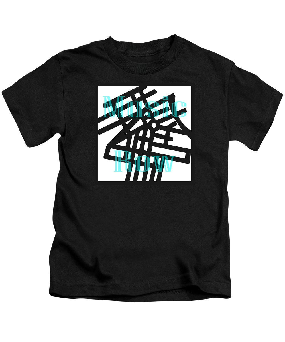 Digital Kids T-Shirt featuring the digital art Nashville's Music Row by Trudy Clementine