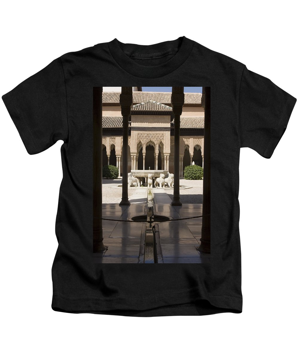 Alhambra Kids T-Shirt featuring the photograph Nasrid Palaces Alhambra Granada Spain Europe by Mal Bray