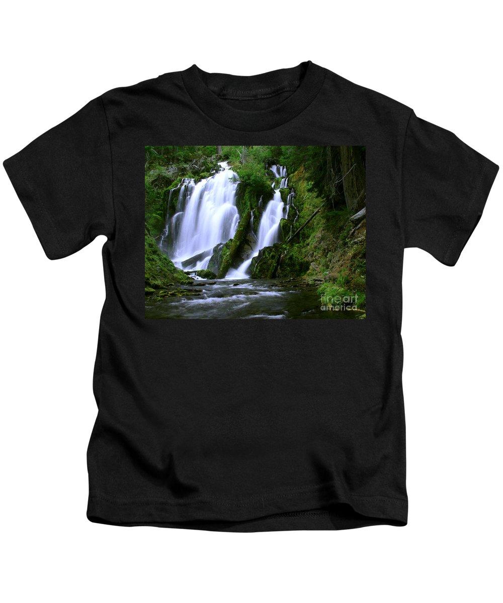 Waterfall Kids T-Shirt featuring the photograph National Creek Falls 02 by Peter Piatt
