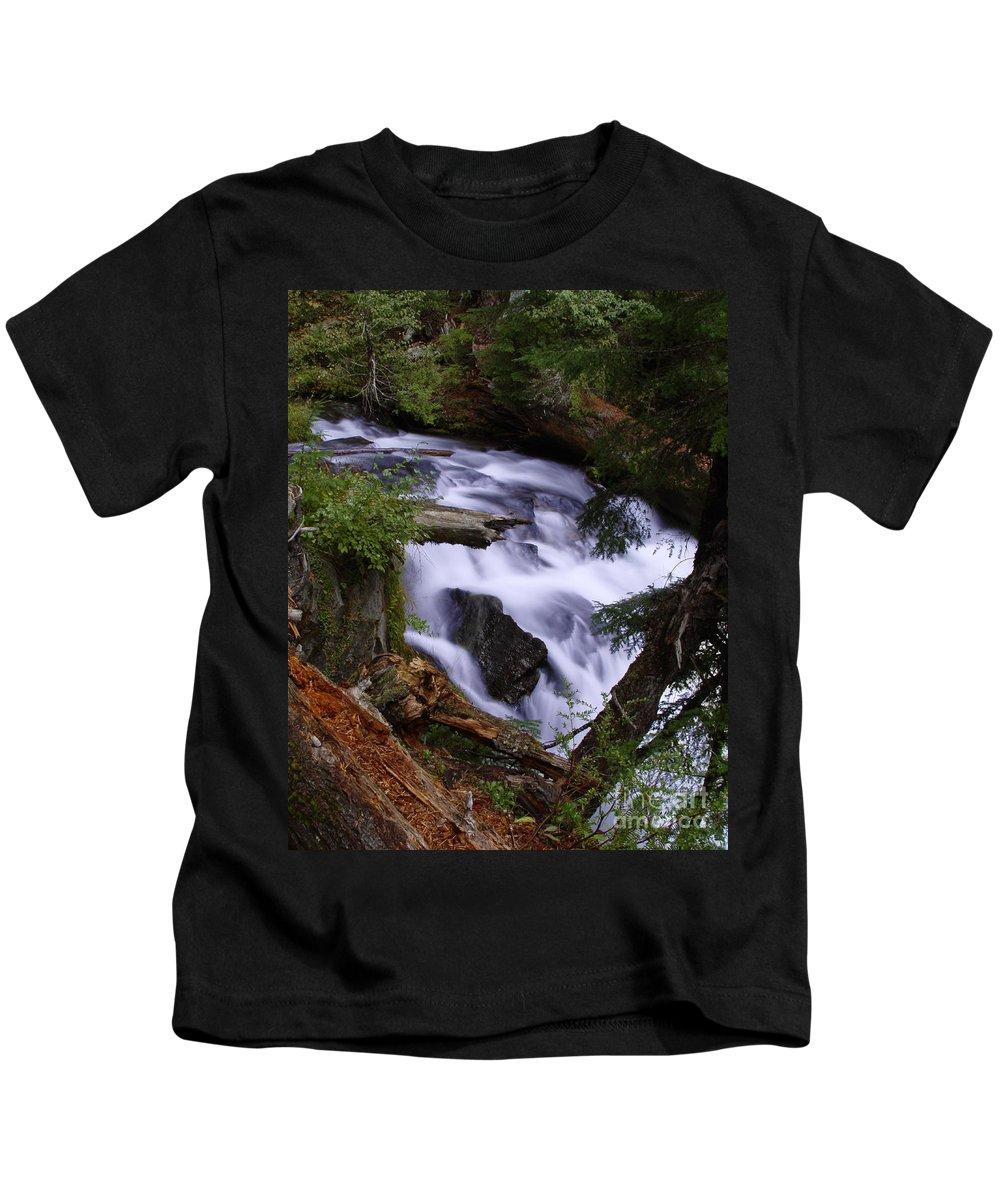 Waterfall Kids T-Shirt featuring the photograph National Creek Falls 03 by Peter Piatt