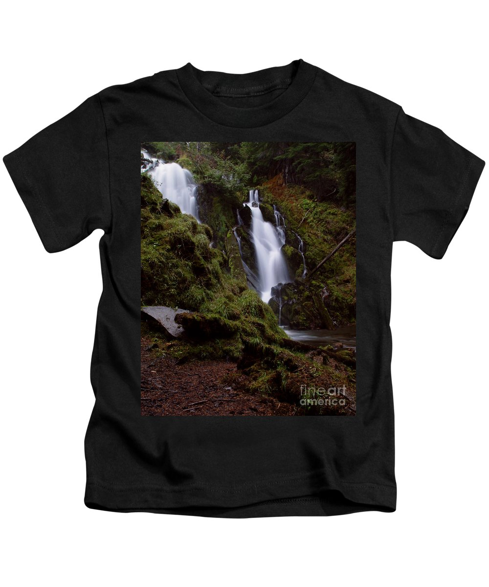 Waterfall Kids T-Shirt featuring the photograph National Creek Falls 04 by Peter Piatt