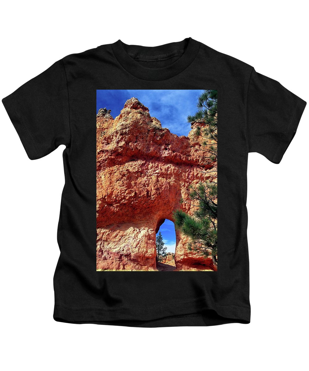 Natural Arch Kids T-Shirt featuring the photograph Natural Arch by Sally Weigand