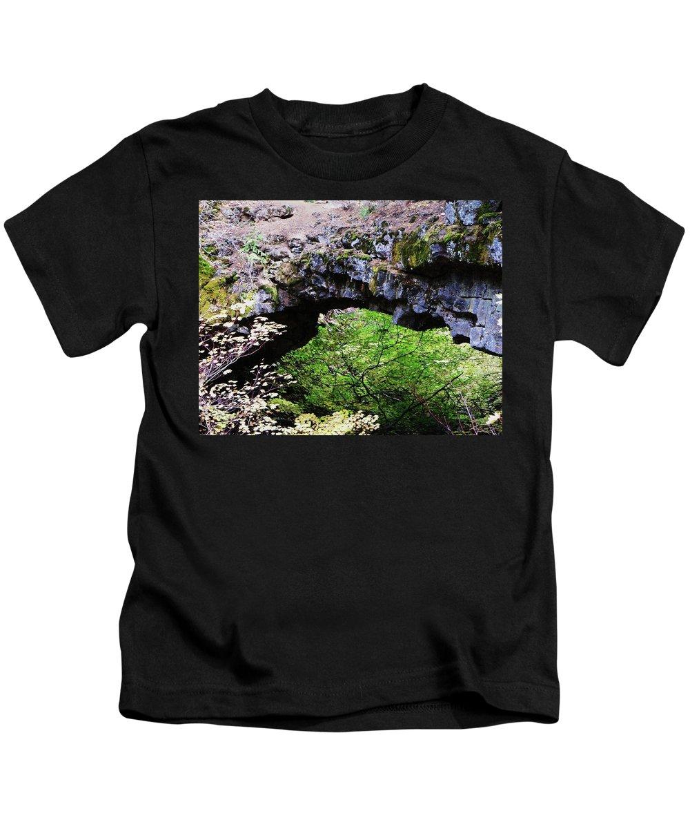 Rocks Kids T-Shirt featuring the photograph Natural Bridge by Jeff Swan