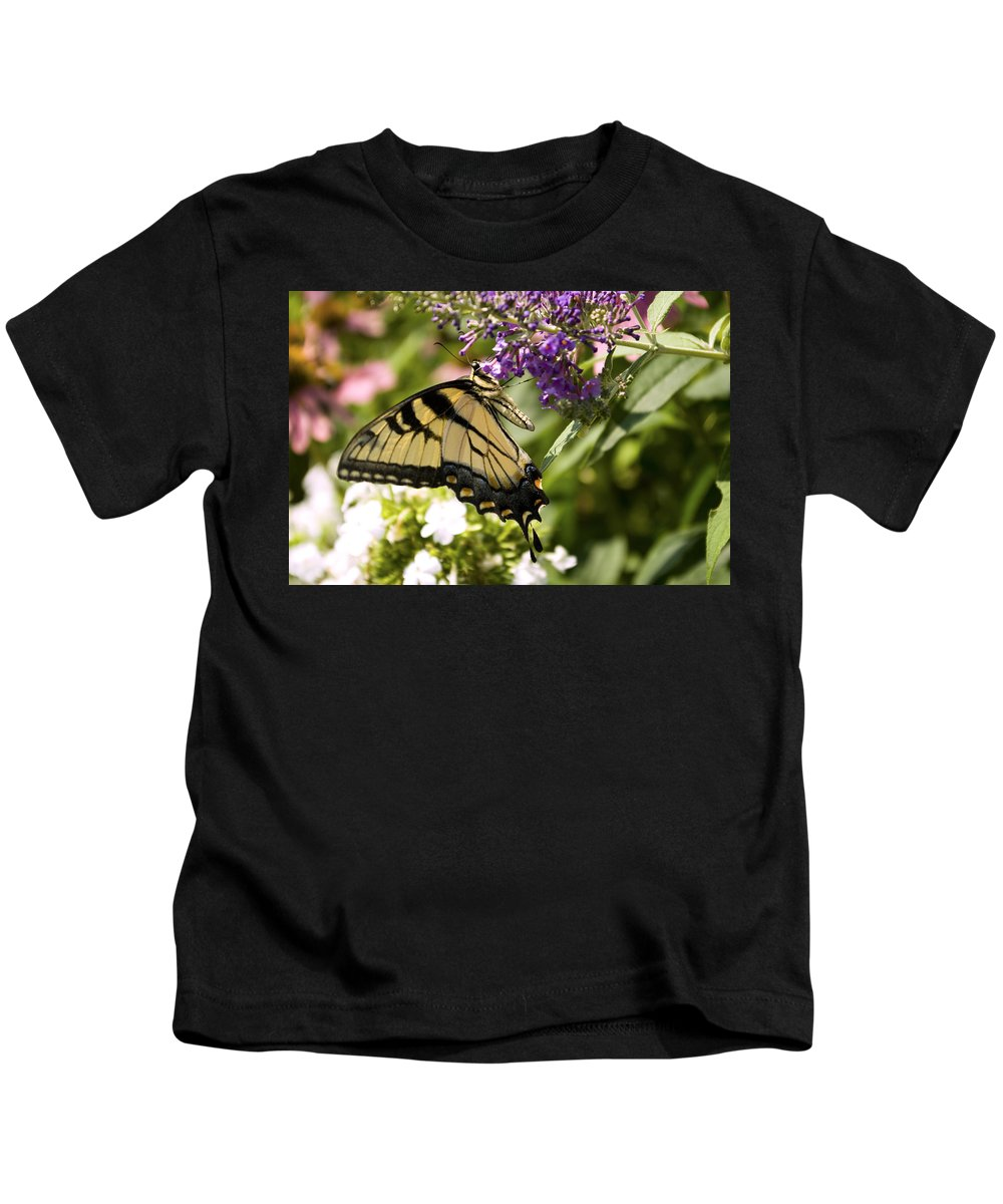 Butterfly Kids T-Shirt featuring the photograph Nature's Canvas by Scott Wyatt