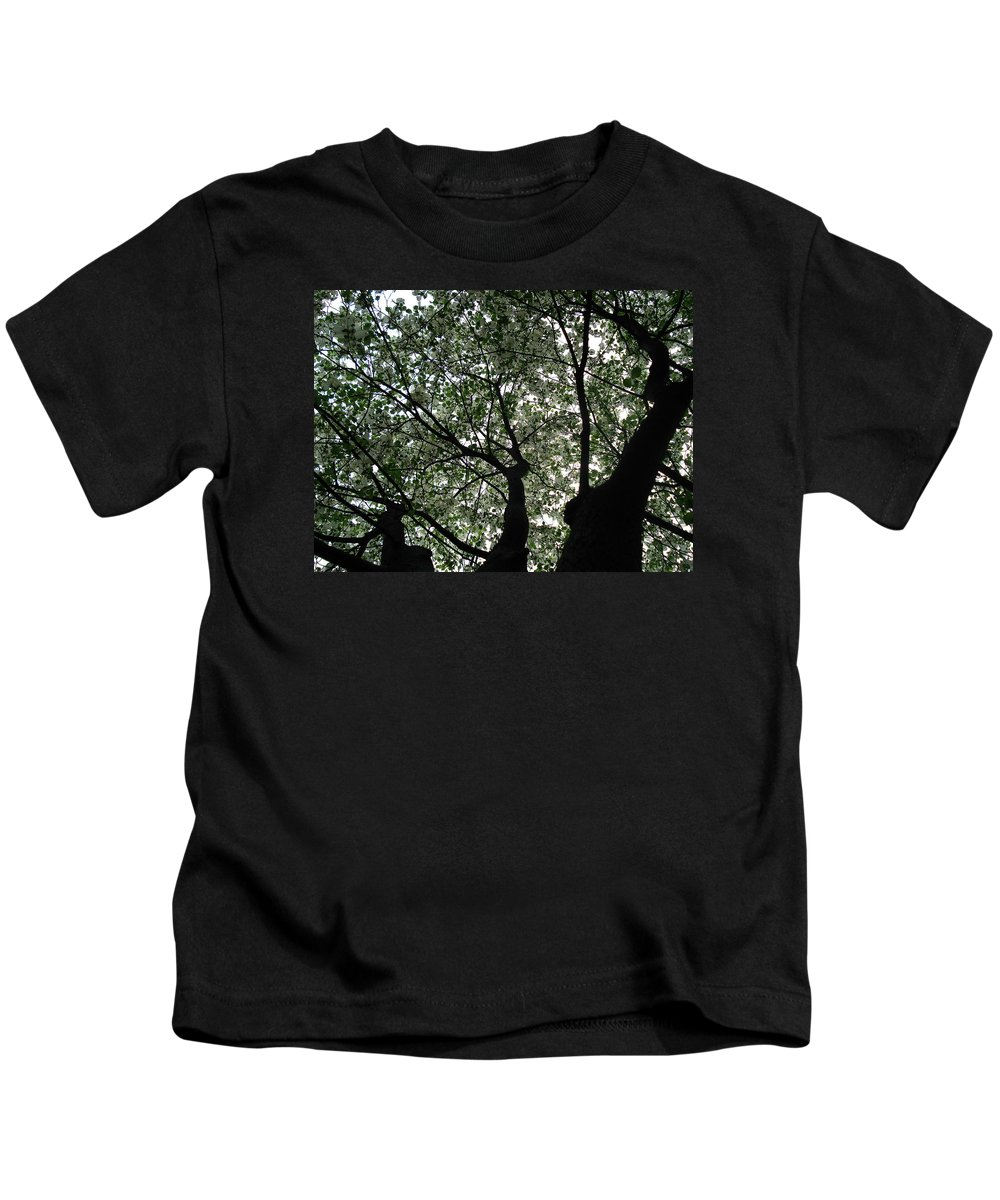 Flowers Kids T-Shirt featuring the photograph Nature's Cathedral 2 by Nelson F Martinez