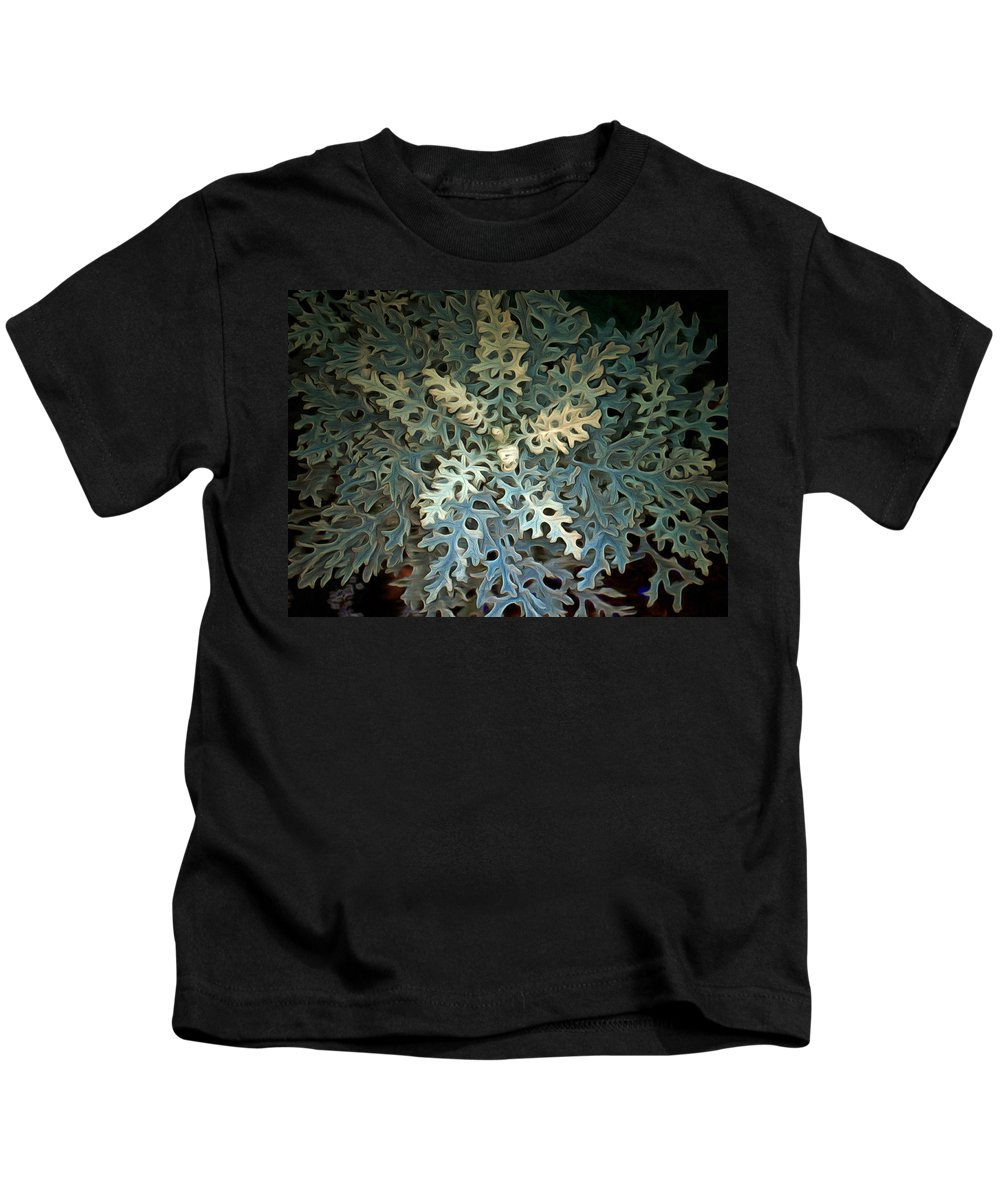 Plant Kids T-Shirt featuring the photograph Nature's Glow II by Linda Koelbel