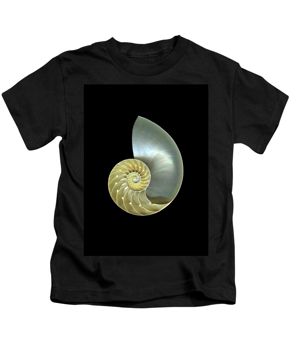 Slanec Kids T-Shirt featuring the photograph Nautilus Nr.1 by Christian Slanec
