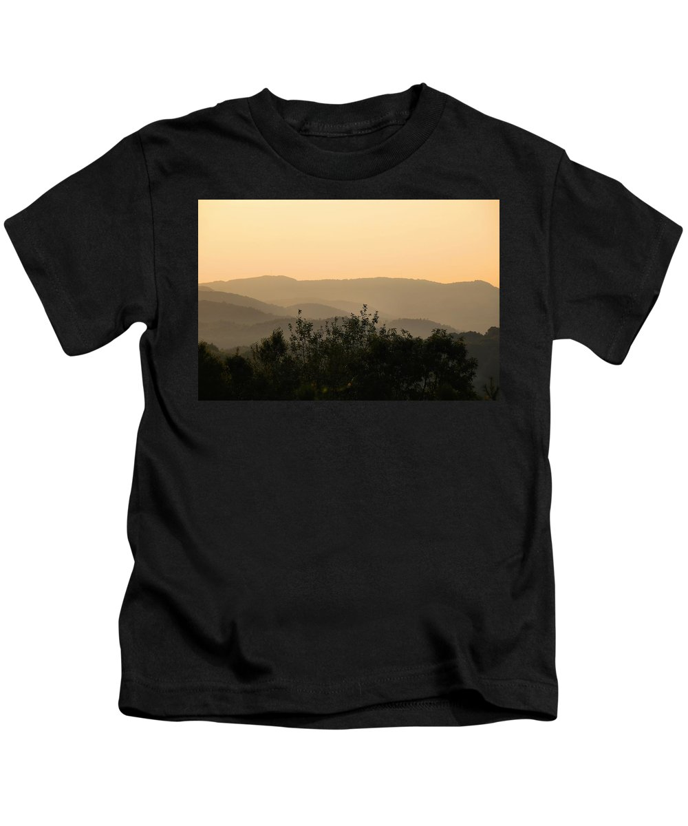 Sunset Kids T-Shirt featuring the photograph Nearing Sunset by Kathryn Meyer
