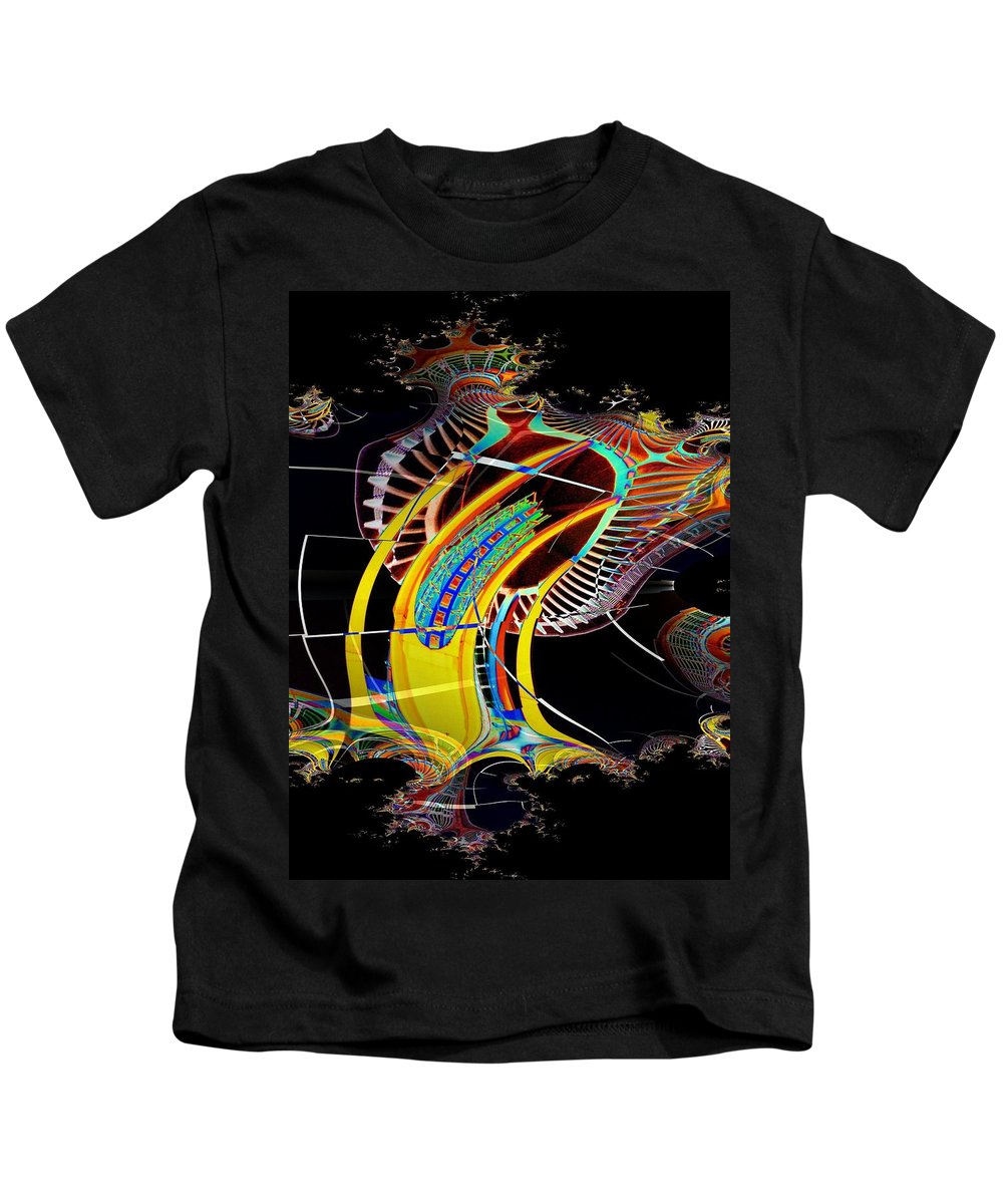 Seattle Kids T-Shirt featuring the photograph Needle In Fractal 4 by Tim Allen