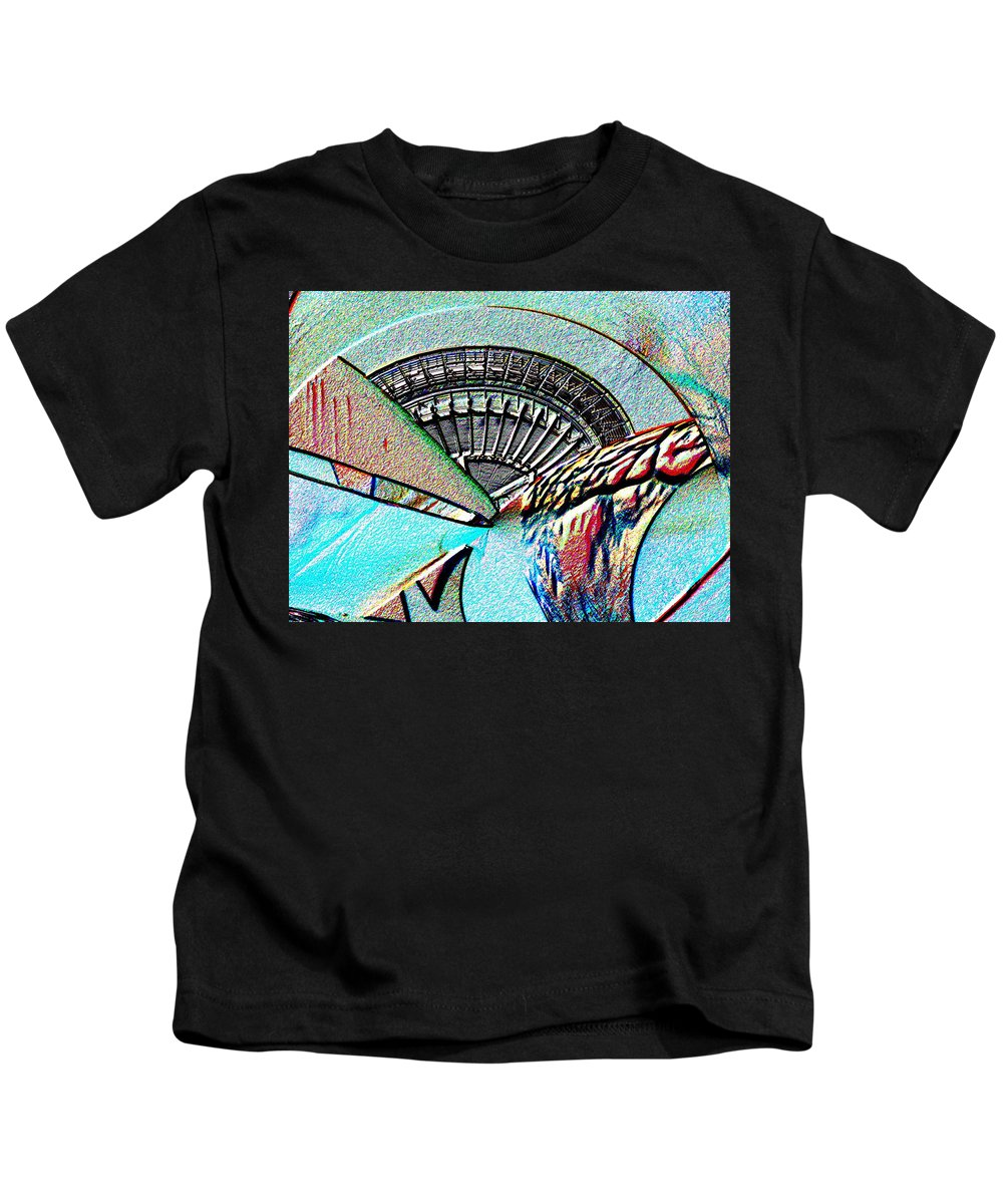 Seattle Kids T-Shirt featuring the digital art Needle Tubes by Tim Allen