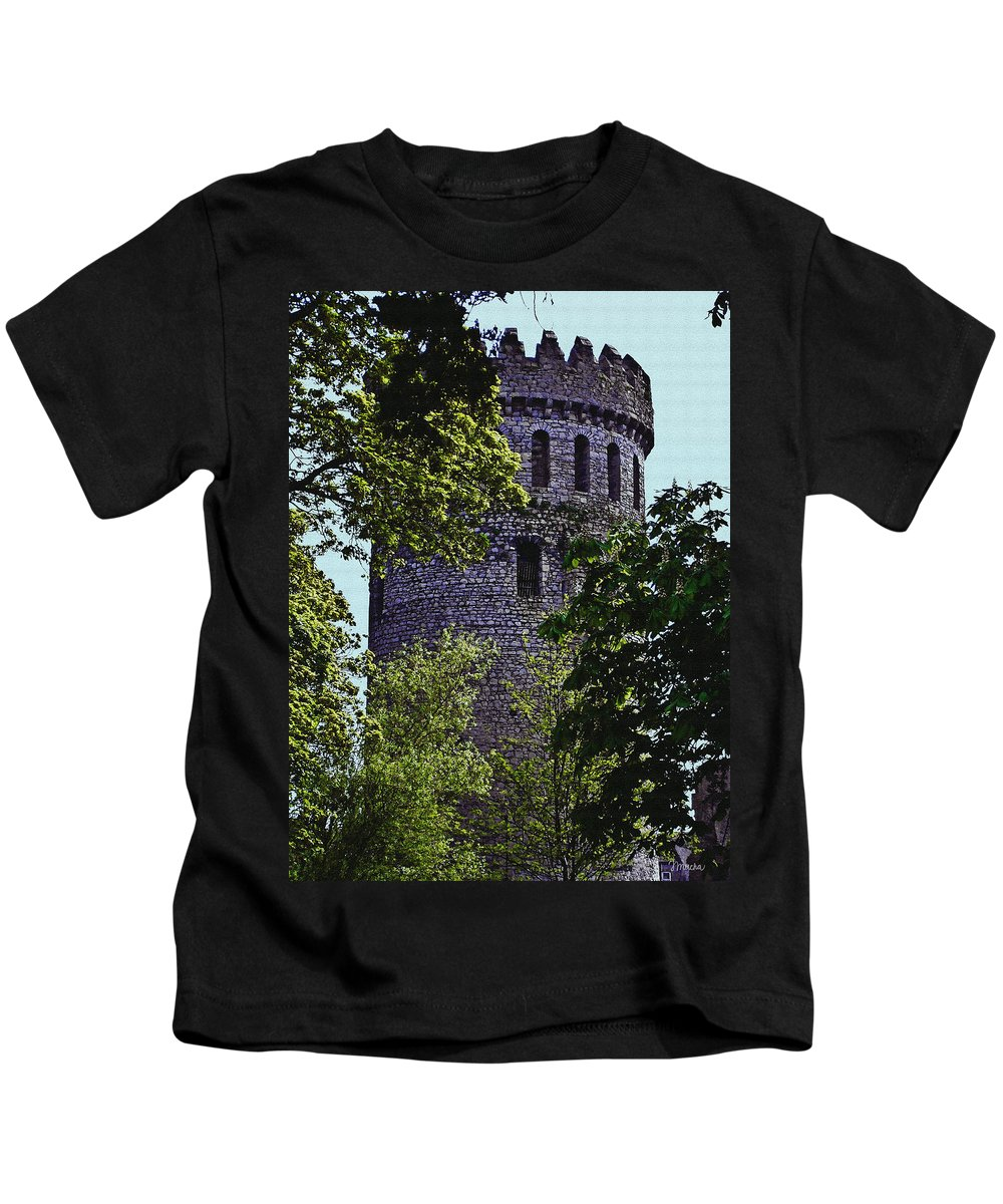Nenagh Kids T-Shirt featuring the painting Nenagh Castle Ireland by Teresa Mucha
