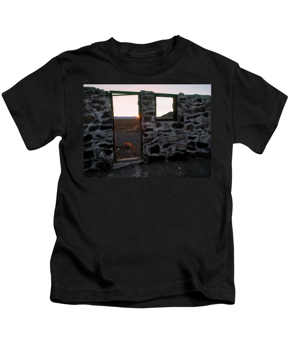 Cabin Kids T-Shirt featuring the photograph Nevada Pioneer History by Leland D Howard
