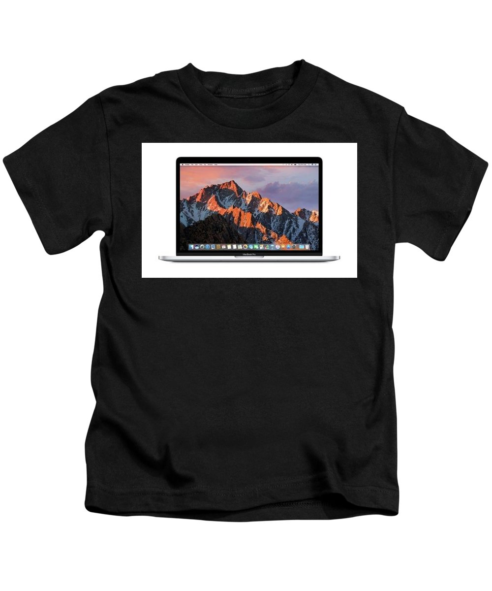 New Apple Macbook Pro Kids T-Shirt featuring the photograph New Apple Macbook Pro by Ellis Hoerner