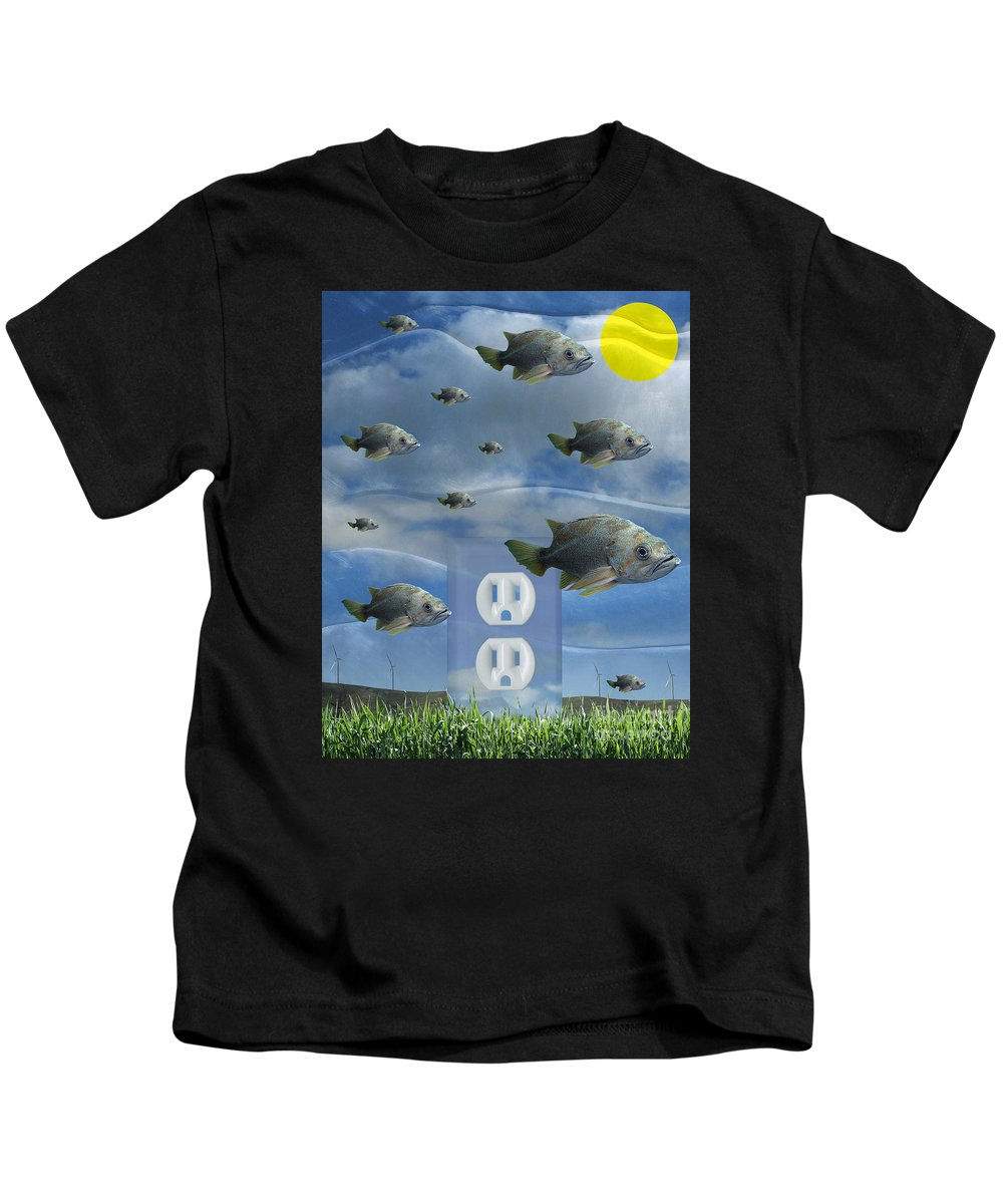Digital Art Kids T-Shirt featuring the digital art New Energy by Keith Dillon